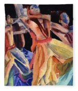 Colorful Dancers Fleece Blanket