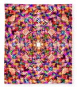 Colorful Digital Abstract Fleece Blanket