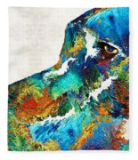 Colorful Dog Art - Loving Eyes - By Sharon Cummings  Fleece Blanket