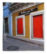 Colorful Doors Guanajuato Mexico Fleece Blanket