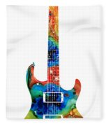 Colorful Electric Guitar 2 - Abstract Art By Sharon Cummings Fleece Blanket
