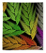 Colorful Feather Fern - Abstract - Fractal Art - Square - 1 Tl Fleece Blanket