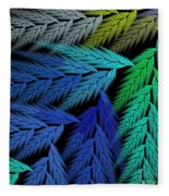 Colorful Feather Fern - Abstract - Fractal Art - Square - 3 Ll Fleece Blanket