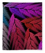 Colorful Feather Fern - Abstract - Fractal Art - Square - 4 Lr Fleece Blanket