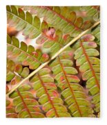 Colorful Fern Square Fleece Blanket