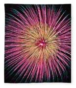 Colorful Fireworks Fleece Blanket