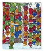 Colorful Fishing Floats Fleece Blanket