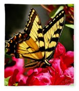 Colorful Flying Garden Fleece Blanket