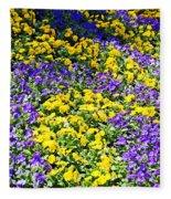 Colorful Garden Fleece Blanket