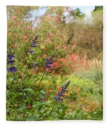 Colorful Garden In Spring Fleece Blanket