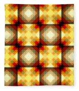 Colorful Geometric Collage Fleece Blanket