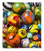 Colorful Glass Marbles Fleece Blanket
