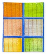 Colorful Glass Fleece Blanket