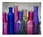 Colorful Group Of Bottles Fleece Blanket