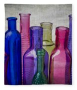 Colorful Group Of Bottles Fleece Blanket