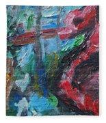 Colorful Impressionism Fleece Blanket
