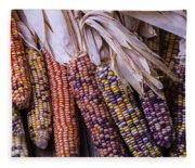 Colorful Indian Corn Fleece Blanket