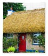 Colorful Irish Cottage Fleece Blanket