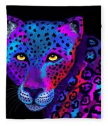 Colorful Jaguar Fleece Blanket
