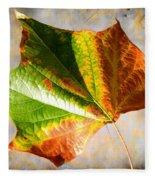 Colorful Leaf On The Ground Fleece Blanket