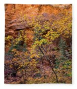 Colorful Leaves On A Tree Fleece Blanket