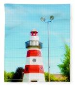 Colorful Lighthouse 2 Fleece Blanket