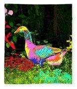 Colorful Lucy Goosey Fleece Blanket