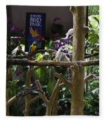 Colorful Macaw And Other Birds At The Jurong Bird Park In Singapore Fleece Blanket