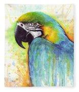 Macaw Painting Fleece Blanket