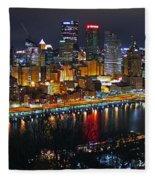 Colorful Night Fleece Blanket