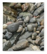 Colorful Ocean Rocks Fleece Blanket