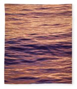 Colorful Ocean Water At Sunset Fleece Blanket