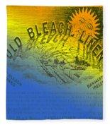 Colorful Old Bleach Linen Ad Fleece Blanket