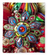 Colorful Ornaments Fleece Blanket