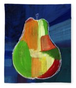 Colorful Pear- Abstract Painting Fleece Blanket