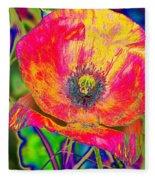 Colorful Poppy Fleece Blanket