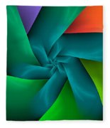 Colorful Ribbons Fleece Blanket