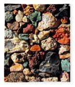 Colorful Rock Wall With Border Fleece Blanket