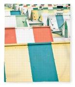 Colorful Roofs Fleece Blanket