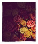 Colorful Roses Background Fleece Blanket