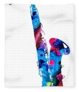 Colorful Saxophone 2 By Sharon Cummings Fleece Blanket