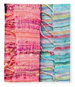 Colorful Scarves Fleece Blanket