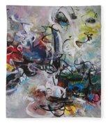 Colorful Seascape Abstract Landscape Fleece Blanket