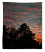 Colorful Sky Number 5 Fleece Blanket