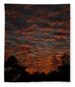 Colorful Sky Number 7 Fleece Blanket