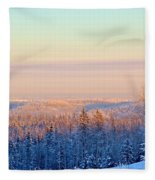 Colorful Snow Valley Fleece Blanket