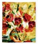 Colorful Spring Bouquet - Abstract  Fleece Blanket