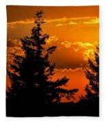 Colorful Sunset II Fleece Blanket
