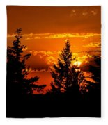 Colorful Sunset Fleece Blanket