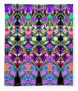Colorful Symmetrical Abstract Fleece Blanket